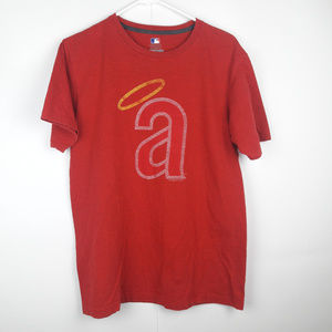 MLB Los Angeles Angels Halo Adult L T-Shirt